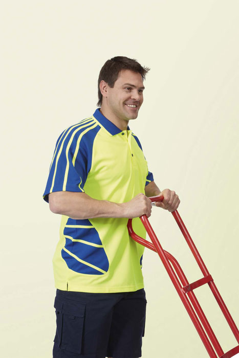 Jb 39 s wear hi vis spider polo shirt personal touch for Hi vis t shirt printing