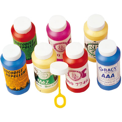 Assorted Coloured Bubbles in Bottles
