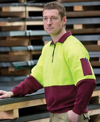 JB's Hi Vis 1/2 Zip Fleecy Top