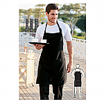 Cotton Drill Full Bib Apron - With Pocket