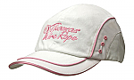 Brushed Heavy Cotton Cap with Sandwich Trim, Mesh Inserts, Crown/Peak Piping