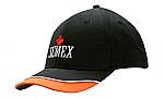 Brushed Heavy Cotton Cap with Trim & Piping on Peak