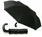 Budget Unisex Folding Umbrella - Steel/Plastic Handle