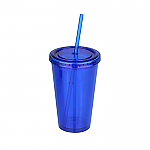 500ml Plastic Tumbler with Straw