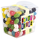 Assorted Coloured Mini Jelly Beans in Clear Mini Noodle Box