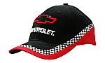 Brushed Heavy Cotton Cap with Tri-Coloured Cap with Check Print