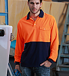 Unisex Adults Hi-Vis Safety Polo Shirt - Long Sleeves