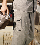 Cotton Drill Cargo Work Pants (Stout)