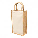Eco Jute Two Bottle Wine Bag