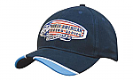 Brushed Heavy Cotton Cap with Piped Peak Indents