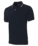 COC Cotton Face Polo Shirt - Navy/White
