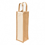Eco Jute One Bottle Wine Bag
