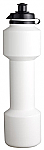 Dumbell Sports Bottle with Clip on Cap - White