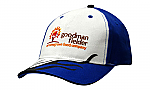 Brushed Heavy Cotton Cap with Sandwich Trim & Flame Embroidery on Crown & Peak
