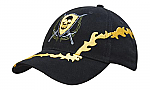 Brushed Heavy Cotton Cap with Lightning Bolt Embroidery