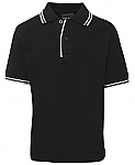 JB's Kids Contrast Polo Shirt - Black/White