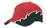 Brushed Heavy Cotton Cap with Zig Zag Embroidery