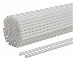 White Balloon Sticks - 300mm