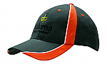 Brushed Heavy Cotton Visor with Fabric Inserts & Piping
