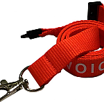 Polyester Ribbed (Flat) 15mm Lanyard