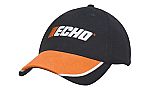 Brushed Heavy Cotton Cap with Piped Peak Inserts