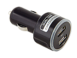 Round Dual USB Car Charger