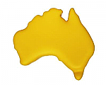 Anti Stress Australia Map - Yellow