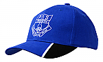 Brushed Heavy Cotton Cap with Peak Inserts & Embroidery