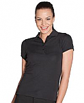 COC Ladies Ottoman Polo Shirt - Black