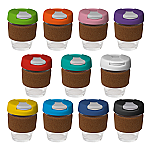 235ml Glass Karma Kup Cork Band with Plastic Flip Lid