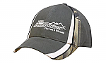 Brushed Heavy Cotton Cap with Camouflage Peak & Crown Inserts
