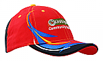 Brushed Heavy Cotton Visor with Embroidery Trim on Crown & Peak