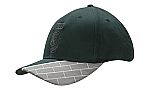 Brushed Heavy Cotton Cap with Fabric Insert & Embroidered Blocks on Peak